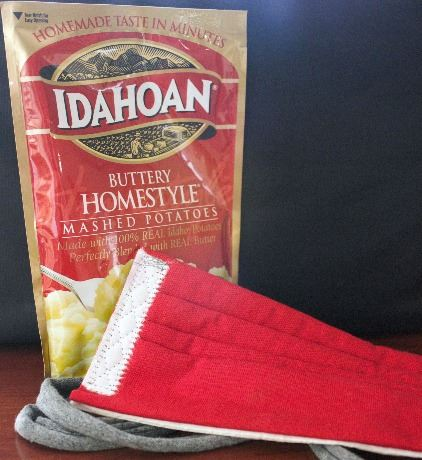 Idahoan Potatoes and Mask 2